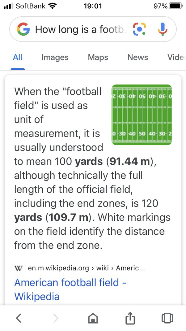 Why Is A Football Field 100 Yards Long Quora