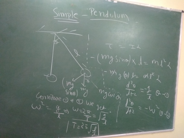 What is the time period of simple pendulum? - Quora