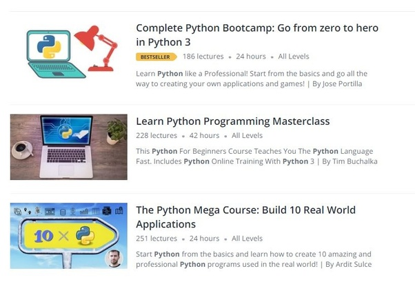 Which is the best python course on Udemy from scratch to