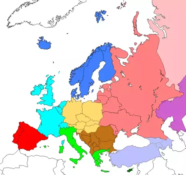 Is Germany part of Northern Europe How are the regions of Europe