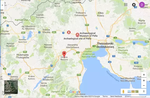 Where was alexander born in modern day greece or in modern day google map showing all three historic capitals of macedonia aigai today vergina pella thessaloniki being within greek territory gumiabroncs Image collections