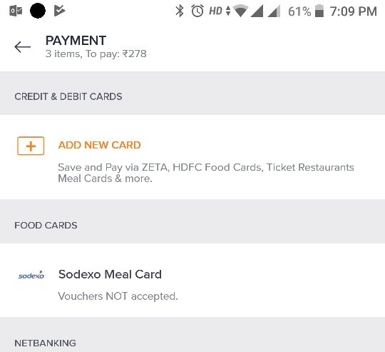 Does the Sodexo Meal Pass work if you order food from Zomato