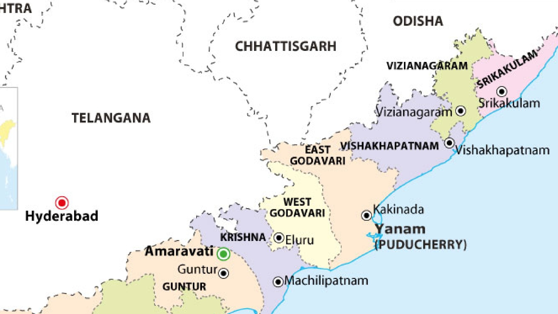 Does Andhra Pradesh share a border with Chhattisgarh? - Quora