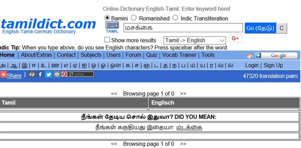 What is the meaning of the Tamil term Masakkai (மசக்கை