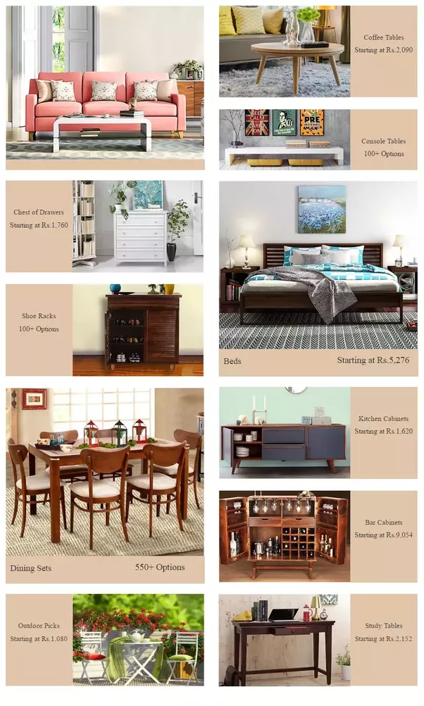 Which is the best online furniture shopping site in india List of online furniture stores
