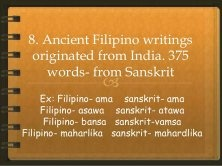 What is the etymology for the Tagalog word 'munimuni