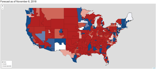 What is your final U.S House map for 2018? - Quora