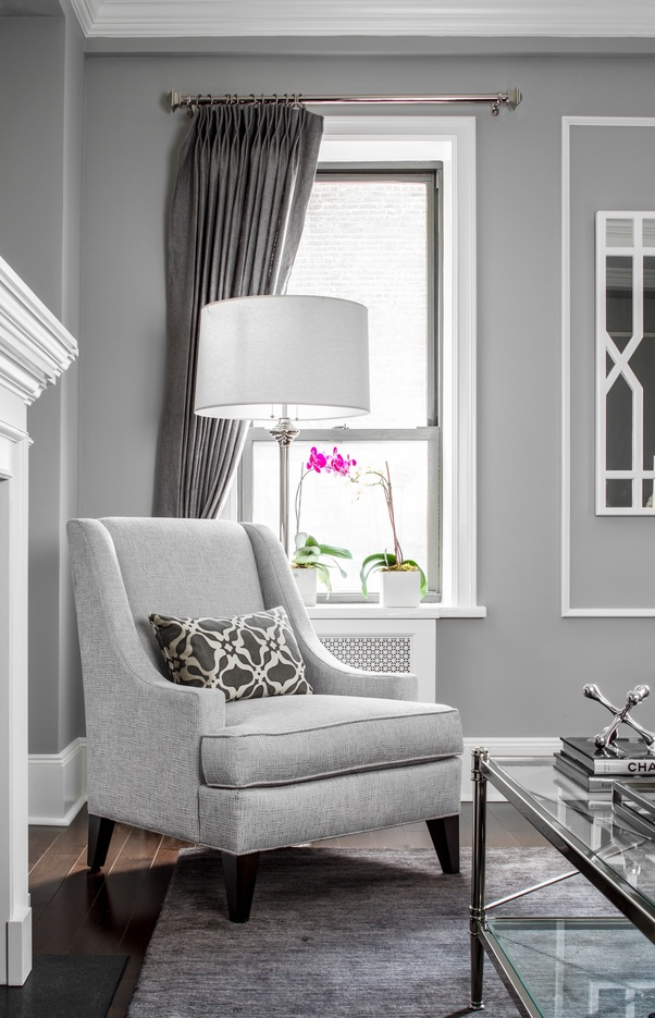 What color of curtains would go well with a gray colored - Living room colours to go with grey ...