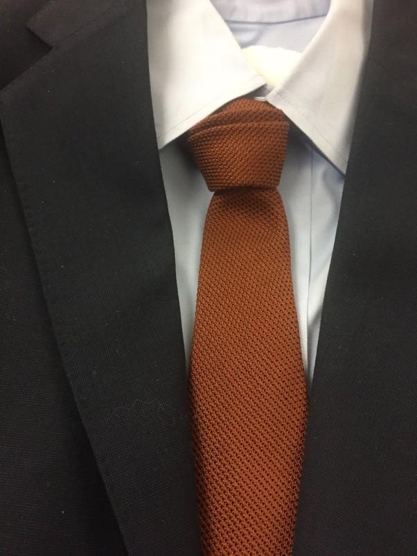 Solid Brown Grenadine Silk