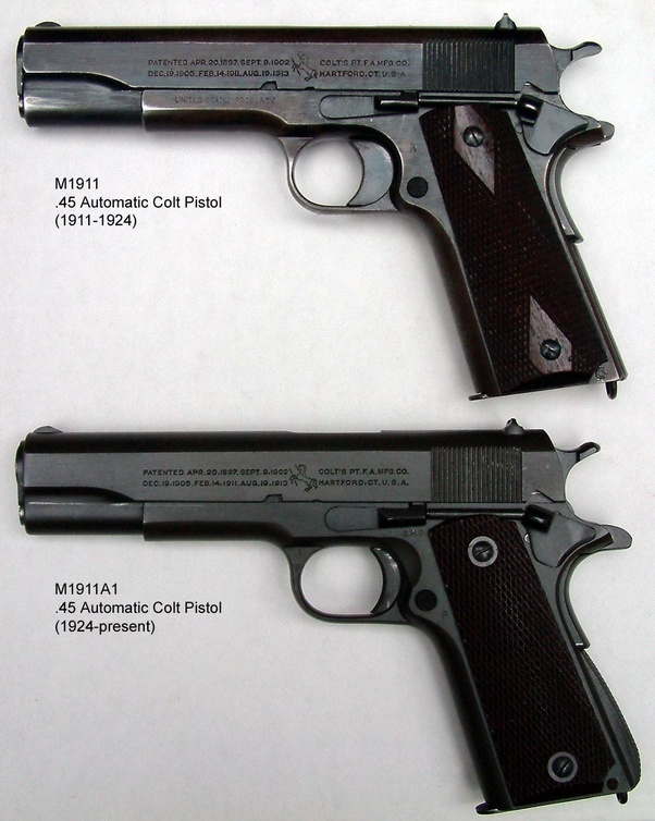 Is there any difference between a WWI 1911 pistol and a WWII 1911 ...