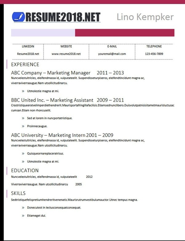 if you are seeking for the latest resume templates in docx format you can get 100 resume 2018 examples in word format right here