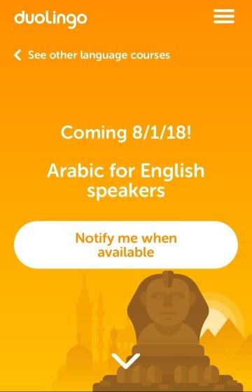 arabic on duolingo
