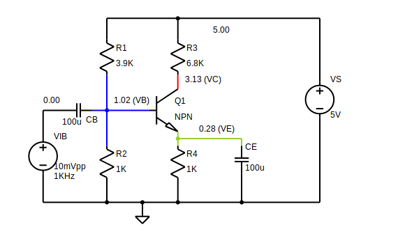 the circuit shown below (let's call this image 2) is a simplified circuit  for dc analysis  to limit the scope of this answer, i would suggest  ignoring the