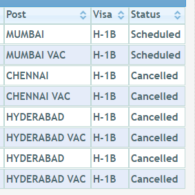 What are the number of times one can reschedule the US visa