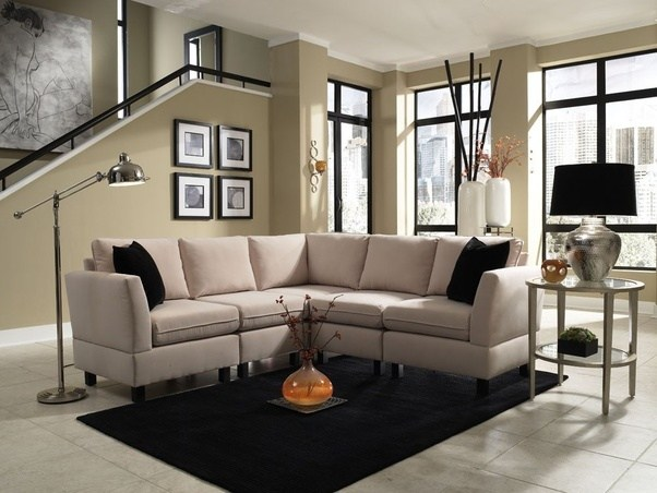 What are the dimensions of a sectional sofa on average Quora