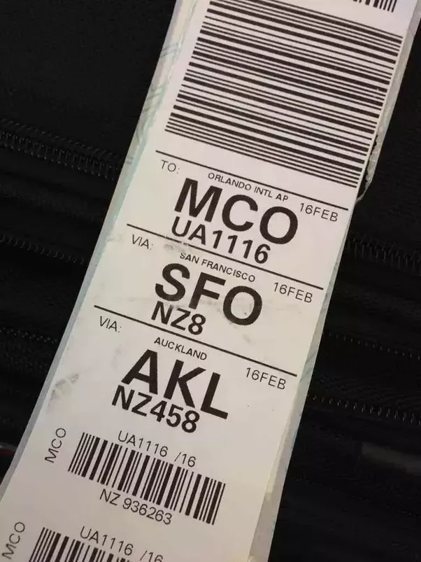 On A Luggage Tag Issued By The Airline At A Baggage Drop