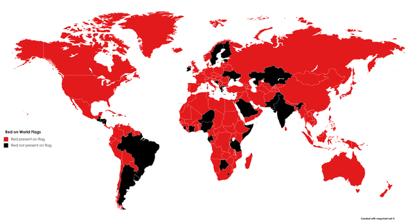 which countries have red colour in their flags quora