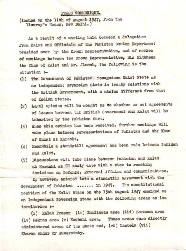 How Did Baluchistan An Independent Status Region Under The British