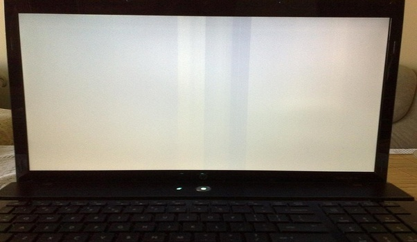 How to fix my laptop's white blank screen when I start it up