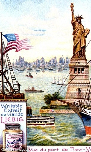 Are There Any Pictures Of The Statue Of Liberty In New York When It Was Still Copper Color