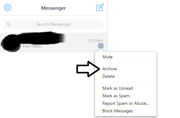 how to delete someone from facebook conversation