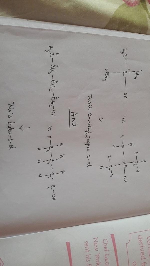 How Can We Distinguish Between 2 Methyl 2 Propanol And 1 Butanol Quora