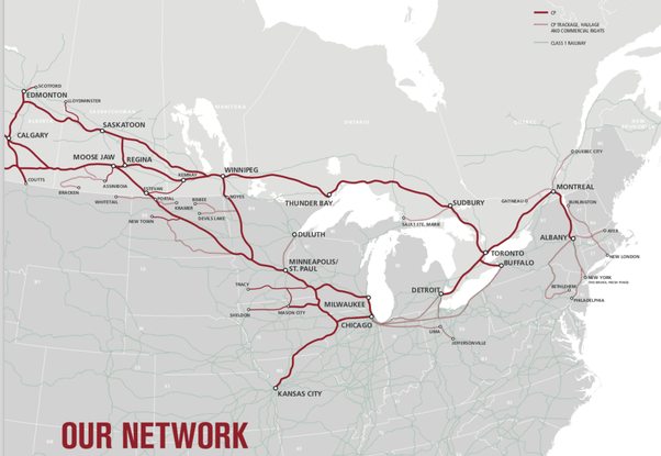 canadian pacific system map What Is The Difference Between Cp Rail And Cn Rail In Canada Quora canadian pacific system map