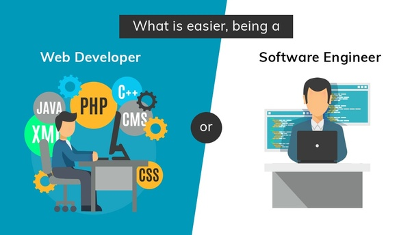 What is easier, being a web developer or a software engineer