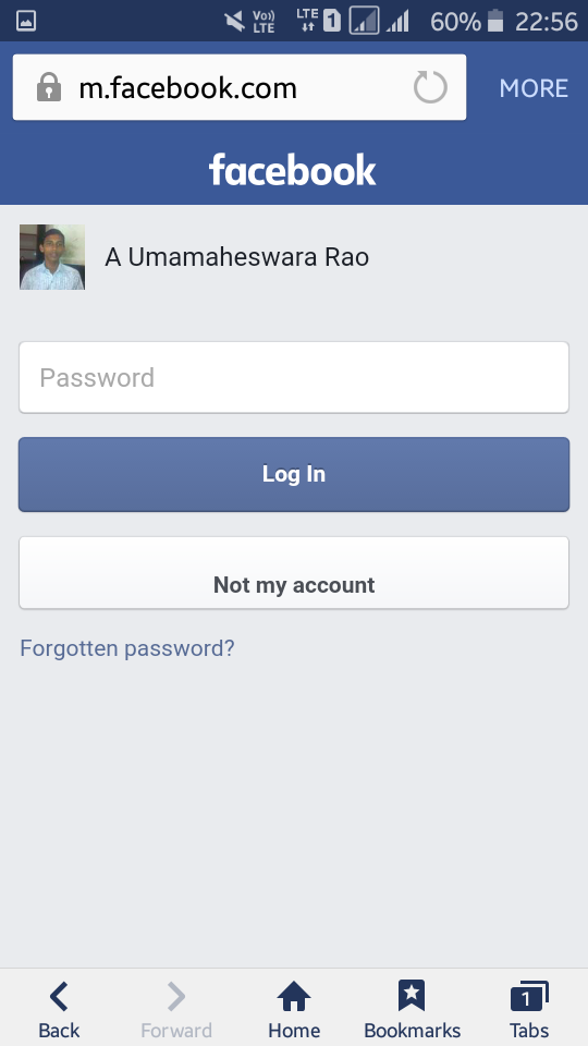 how to open facebook account without password