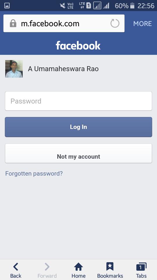 Lost my facebook login information