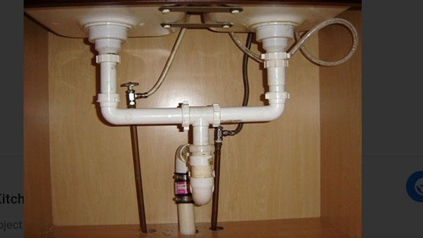 Can I Change The Original 2 Sided Kitchen Sink Plumbing Using A T Connection To Drain Both Through The Same Down Pipe And Free Up Space In The Cabinet Quora