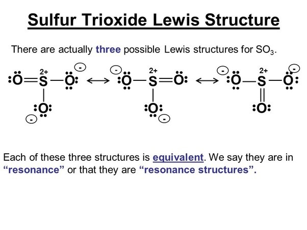 How Many Resonance Structures Can Be Drawn For Sulfur