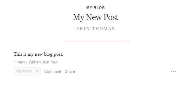 Your New Quora Blog Is Now Set Up