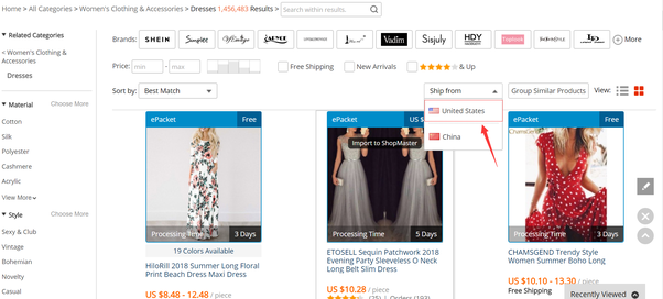 How to find USA-based fashion dropshipping suppliers on AliExpress