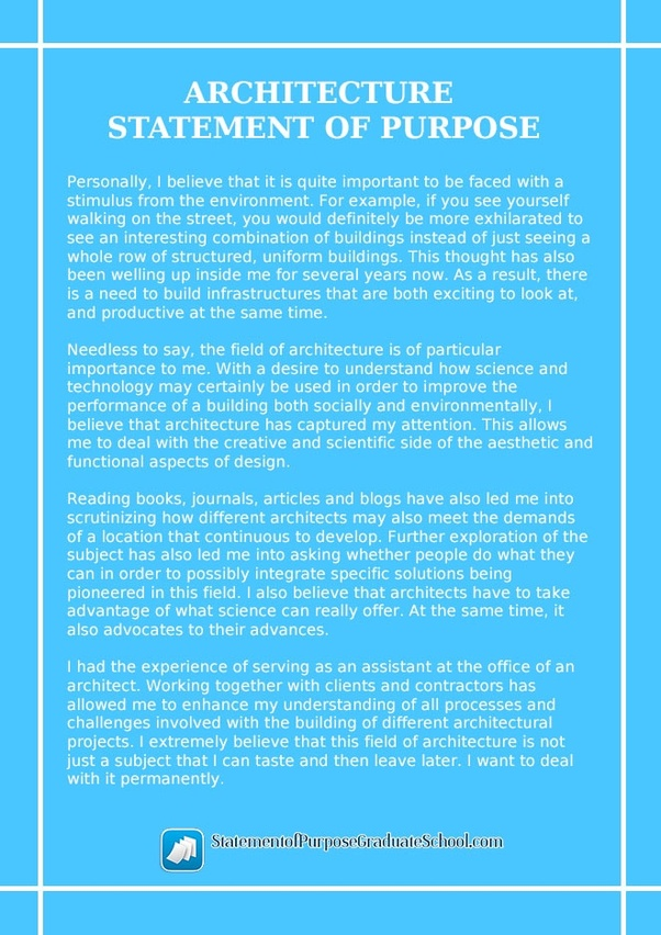 interior architecture and design personal statement format