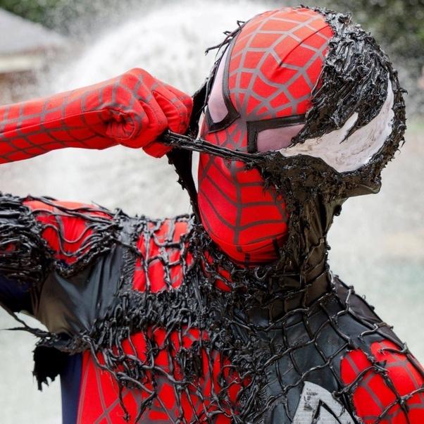 Spiderman costume faceshell replica | #29465562 |Black Spiderman Costume Replica