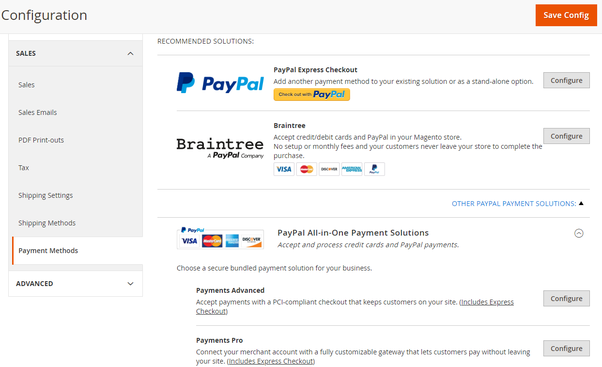 How many payment methods are available in the Magento framework? - Quora