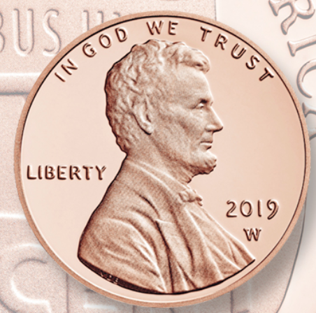 Is the 2019 W mint mark penny a copper or zinc penny? - Quora