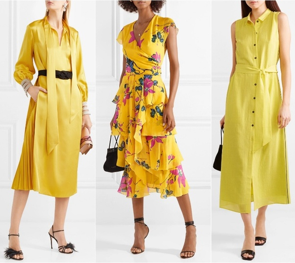 e09d76d45bc4 What color of the heels best match a yellow dress  - Quora