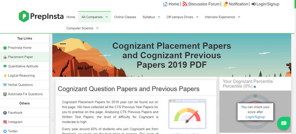 What are the questions asked for cognizant campus