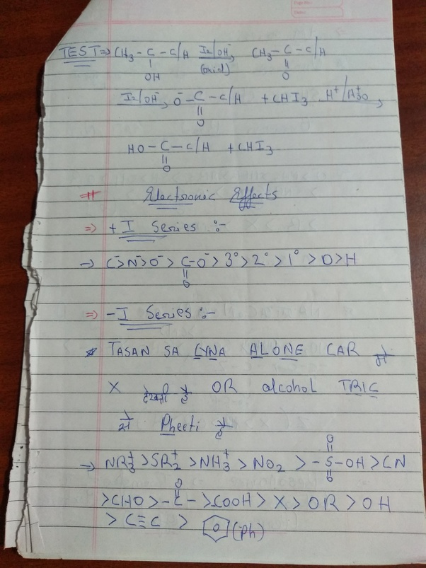 Can anyone share his JEE organic chemistry notes to me? - Quora