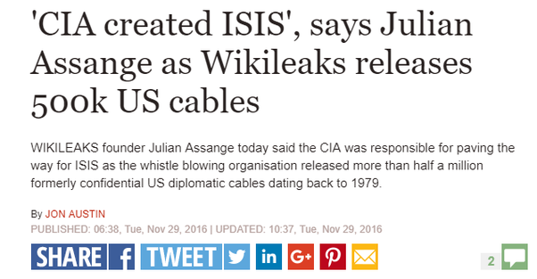 Was ISIS created by the CIA? - Quora