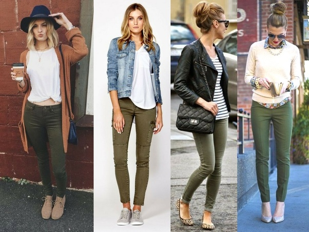 8ee1d249a8 What colors look good with olive green pants  - Quora