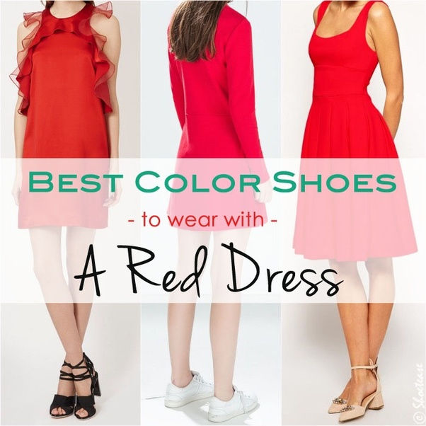 What Color Shoes Should I Wear With A Red Dress?