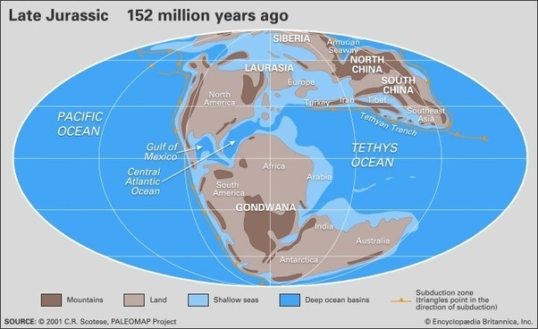 What did the UK look like on the world map during the Jurassic ...