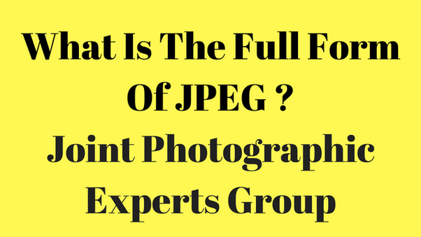 jpeg full form