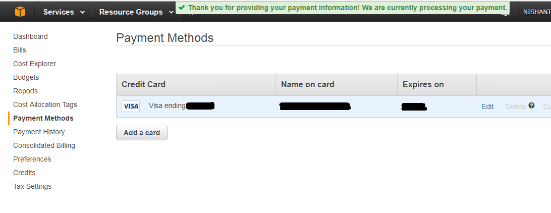 Which Indian debit card works with AWS (Amazon Web Services