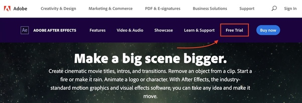 How to download Adobe After Effects for free, without paying