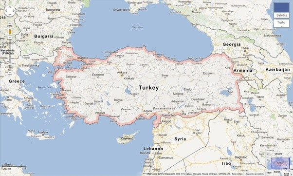 How do the people of turkey feel about the economic crisis in heres a map of turkey and its border neighbor countries gumiabroncs Choice Image