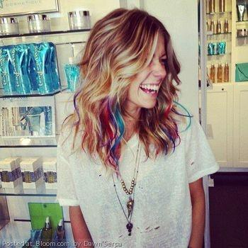 In the summer I want to dye my hair a crazy color but at the end of ...